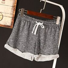 New Women Shorts Casual Sports Yoga Running Lace Up Pleated Girl Short Pants