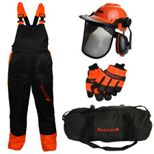 Chainsaw Protection Safety Protection Kit Bib & Brace Trousers Gloves Helmet Kit