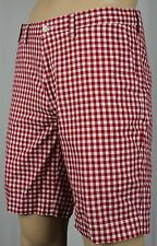 Polo Ralph Lauren Red White Checkered Suffield Fit Shorts NWT
