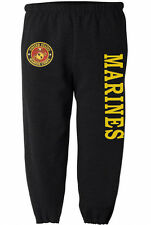 US Marines sweatpants Men's size USMC sweats marine corps sweat pants black