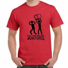 Mens Funny Sayings Slogans T Shirts-You Are Being Monitored tshirt