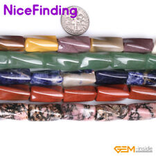 "9x20mm Natural Gemstone Column Twist Stone Beads For Jewelry Making Beads 15""DIY"