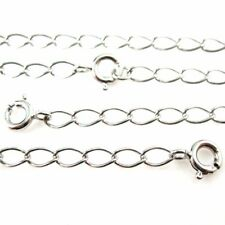 """Rhodium Plated over Sterling Silver Necklace- Twisted Curb Chain-6*4mm (7.5-36"""")"""