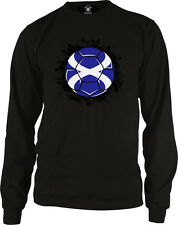 Scotland Flag Soccer Ball Pride Scottish Pride Independence Long Sleeve Thermal