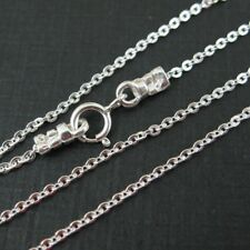 Sterling Silver Necklace Chain 1.5mm Cable Oval Link (All Sizes) Made in Italy