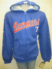 Texas Rangers Men S, 2XL Full-Zip Hooded Sweatshirt MLB Stitches Blue A14TLM