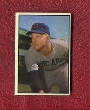 1953 BOWMAN COLOR #144 WARREN HACKER CUBS HIGH NUMBER SET BREAK EX+ / EXMT