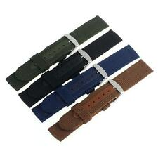 18/20mm Nylon Wrist Watch Band Strap For Watch Stainless Steel BuckleBrown