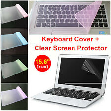 "Clear 15.6"" Laptop Notebook LCD Monitor Screen Protector Cover+Keyboard Cover"