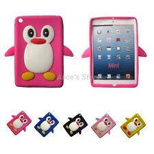 1x3D Cute Cartoon Penguin Soft Silicone Rubber Case Cover For Apple iPad Mini