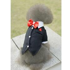 Pet Dog Tux Tuxedo Suits Formal Outfit Wedding Costume Bow Tie Coat Size XS-XL