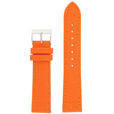 LEA1230 Watch Band Orange Canvas Style Water Resistant