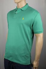 Polo Ralph Lauren Green Interlock Shirt Yellow Pony NWT