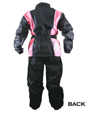 Xelement Ladies 2 Piece Black and Pink Motorcycle Rain suit RN4786