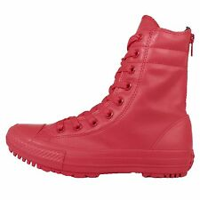 Converse Chuck Taylor All Star Hi-Rise Boot Rubber Red Womens Boots 549592C