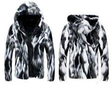 Hot Fashion Men Luxury Hooded Thicken Coat Winter Warm Faux Fur Outerwear Jacket