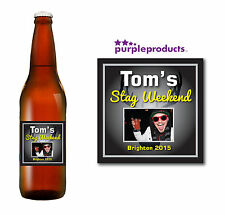 PERSONALISED PHOTO STAG DO, PARTY, NIGHT, WEEKEND BEER LABELS