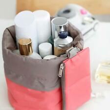 Unique Classic Design Women Travel Makeup Cosmetic Cylindrical Bag Nice Case Hot