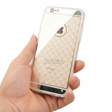 Gold Chrome Transparent Hard Soft TPU Back Case Cover For Apple iPhone Series