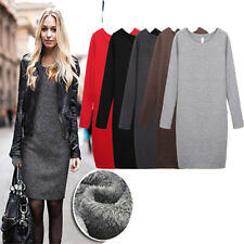 Fashion Lady Autumn/Winter Mirco Velvet Round Collar Woolen Thicken Dress Skirt