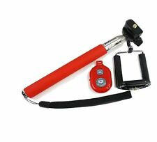 RED SELFIE STICK TELESCOPIC + REMOTE SHUTTER FOR VARIOUS 2014/2015 SMARTPHONE