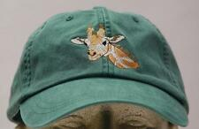 GIRAFFE WILDLIFE HAT - LADIES MEN SOLID COLOR BASEBALL CAP - Price Embroidery
