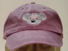 KOALA WILDLIFE HAT LADIES MEN SOLID COLOR BASEBALL CAP - Price Embroidery
