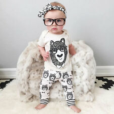 2pcs Girl Top+Pants Boy Clothes Newborn Trousers Bottoms Sets Baby Outfits Gift