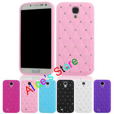 Bling Rhinestone Silicone Soft Back Case Cover for Samsung Galaxy S4 I9500 UK