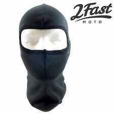2FastMoto Balaclava Black One Hole Under Helmet Face Mask Cold Gear Outdoor