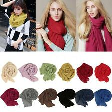 Fashion Women's Scarf Solid Color Linen Cotton National Long Shawl Pashmina G6IN