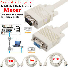 VGA SVGA Male to Female PC Laptop to TFT LCD Monitor 1m 2m 2.5m Extension Cable