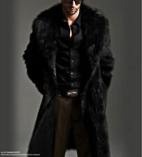 Mens Faux Fur Parka Coat Winter Warm Luxury Long Jacket Outerwear Overcoat