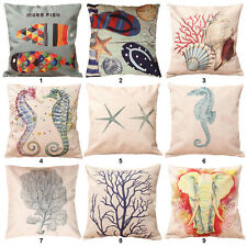 Square Vintage Cotton Linen Pillow Case Sofa Throw Cushion Cover Home Bed Decor