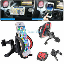 360° Rotating Car Air Vent Mount Cradle Holder Stand for Samsung iPhone LG ZTE