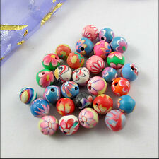 New Charms 6mm 8mm 10mm 12mm Mixed Polymer Fimo Clay Round Ball Spacer Beads