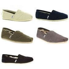 Toms Classic Canvas Slip on Espadrilles Plimsoles Women Mens Unisex Shoes