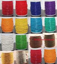 Long 1m/5m/100m Cable Open Link Iron Metal Chain Findings Lots U Pick Colour
