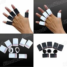 10 pcs Finger Sleeves Protector Guard Support Wrap Basketball Sports Elastic