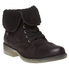 New Womens Rocket Dog Black Tiffany Synthetic Boots Ankle Lace Up