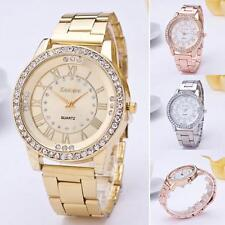 Luxury Women Watch Crystal Rhinestone Stainless Steel Analog Quartz Wrist Watch