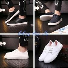 Mens Casual Shoes Driving Moccasin Fashionable Sneakers Lace Up PU Leather - LD