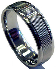 NEW! MAGNIFICENT 14K WHITE GOLD 7 MM WIDE MEN'S WEDDING BAND RING COMFORT FIT