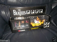 THE BEATLES CORGI DIECAST MODEL YELLOW SUBMARINE 4 BEATLES FIGURES SET AWESOME !