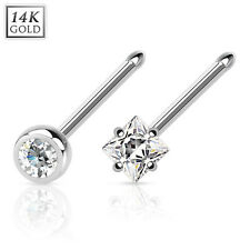 Nose Piercing 585er 14 Kt White Gold Nose Stud Stud Crystal Piericing Jewelry