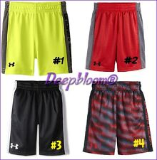 UNDER ARMOUR ATHLETIC SHORTS BOYS 12 18 24 MONTHS YELLOW CAMO RED NEW