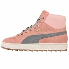Puma Suede Winterized Rugged Wns Pink Grey Womens Casual Shoes 359029-01