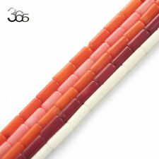 Red Pink Orange White 4x8mm Column Sea bamboo Coral Gemstone Beads Strand 15""