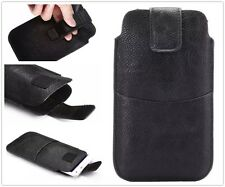 Universal Faux Leather Phone Case Cover Skin Waist Pack Bag Belt Pouch Sleeve