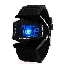 Attractive Men's Black Stainless Steel Luxury Sport Digital LED Wrist DIAL Watch